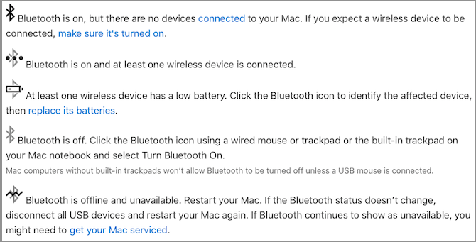bluetooth simgeler mac