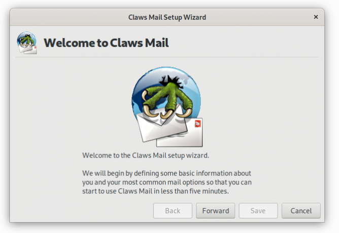 Linux'ta Claws Mail e-posta istemcisi